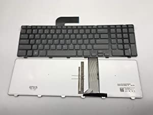 US Layout Laptop Keyboard for Dell Inspiron N7110 5720 7720 Vostro 3750 XPS L702X 8XN0P 08XN0P 0454RX 454RX 09GTY3 Series Black US Layout (Not fit for N7010 Laptop!!) Black Frame, Grey ke