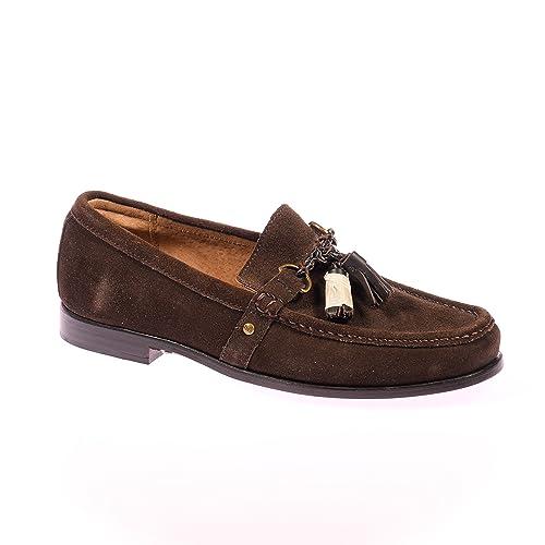 Polo Ralph Lauren - Zapatilla Baja Hombre, Color Marrón, Talla 41: Amazon.es: Zapatos y complementos