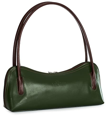 42f0b6aaaa37 LIATALIA Genuine Italian Leather Small Satchel Clutch Evening Shoulder Bag  - ARYA