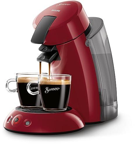 Philips Cafetera de monodosis de café HD7818/82 HD7818/82-Senseo Original XL, Color Rojo, 140 W, 2 Cups, plástico