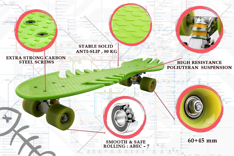Skateboard Completo Skateboard Monopattino con Cuscinetti a Sfera Skateboard 4 Ruote Airel Monopattino Skateboard con Cuscinetti a Sfera