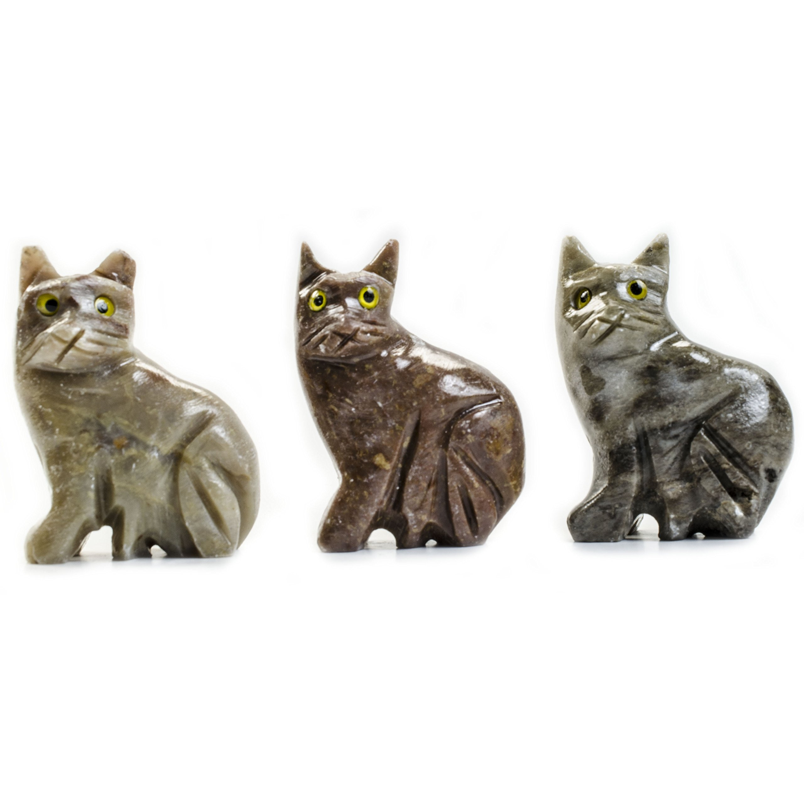 Digging Dolls : 10 pcs Artisan Cat Collectable Animal Figurine - Party Favors, Stocking Stuffers, Gifts, Collecting and More!