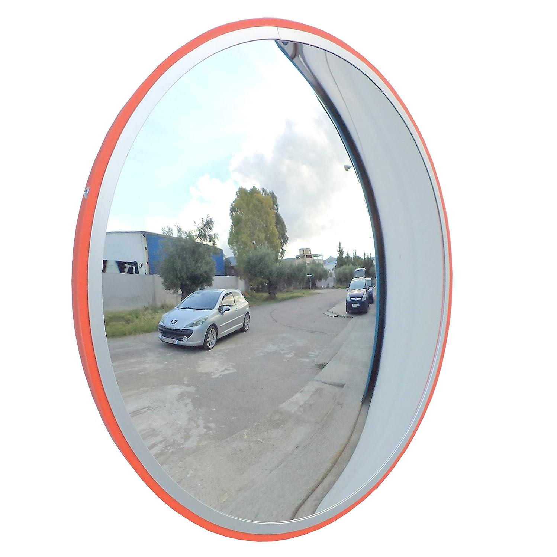 JCM-45i Convesso specchio infrangibile traffico, diametro 45 cm, per la sicurezza stradale e la sicurezza negozio con la parete regolabile staffa di fissaggio