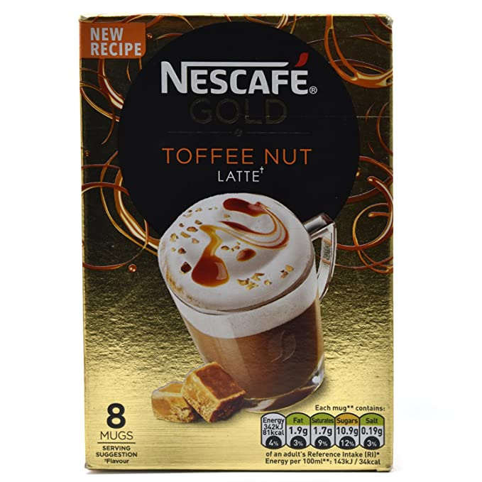 Nescafe | Café instantáneo | Coco Latte | 8 palos por paquete 111gr/3.92oz
