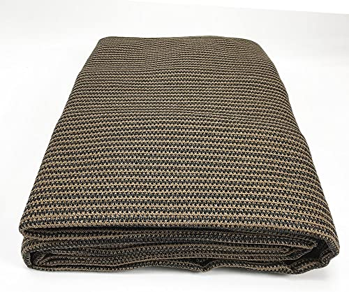 Sun Shade Fabric, UV Shade Cloth – Breathable Sun Screen Fabric, Shade Mesh Fabric – Custom Shade Cloth for Fence, Garden, Backyard, Outdoor, Patio, Pergola, Greenhouse, Barn 4 x 50 FT, Mocha Brown