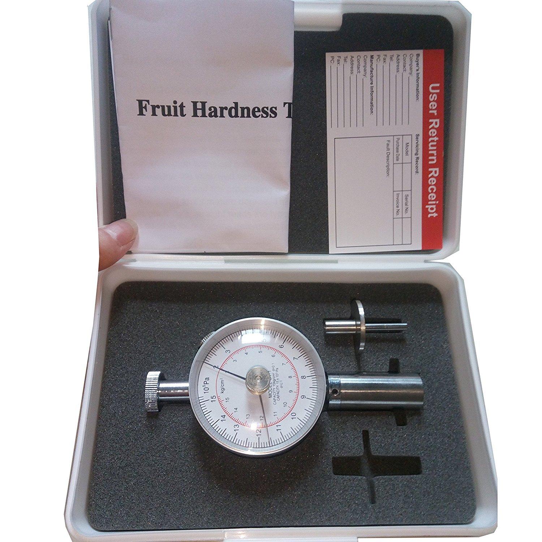VTSYIQI GY-1 Fruit Penetrometer Sclerometer Fruit Hardness Tester Fruit Firmness Tester Penetrometer Sclerometer 3.5mm Fruit Durometer Hand Fruit Durometer 2-15kg/cm 2 (x10 5pa) Pressure Head