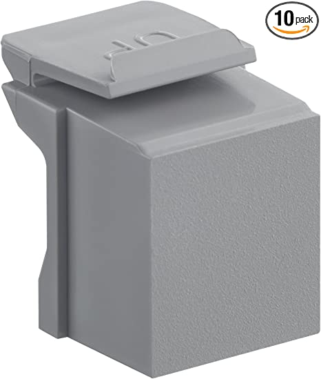 Black 10-Pack Leviton 41084-BE Blank Quickport Insert