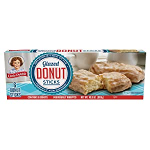 Little Debbie Donut Sticks, 6 Individually Wrapped Snack Cakes, 10 oz, Pack of one (1)