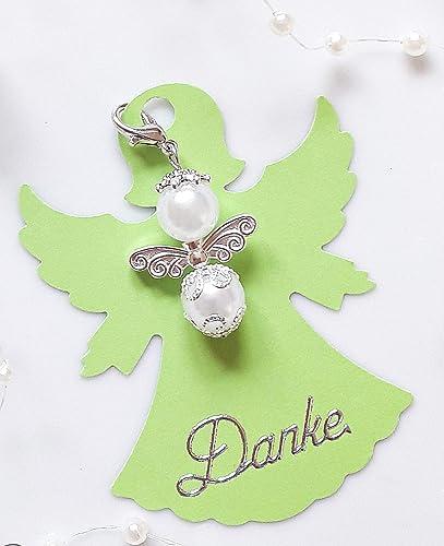 Engelkarte Blau Kommunion Danke Engel Hochzeit Gastgeschenke