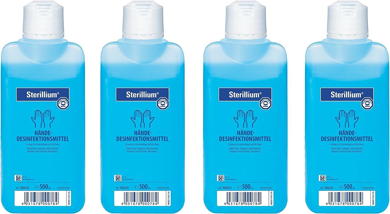 4x 500ml Flasche Sterillium Hygiene Handedesinfektion