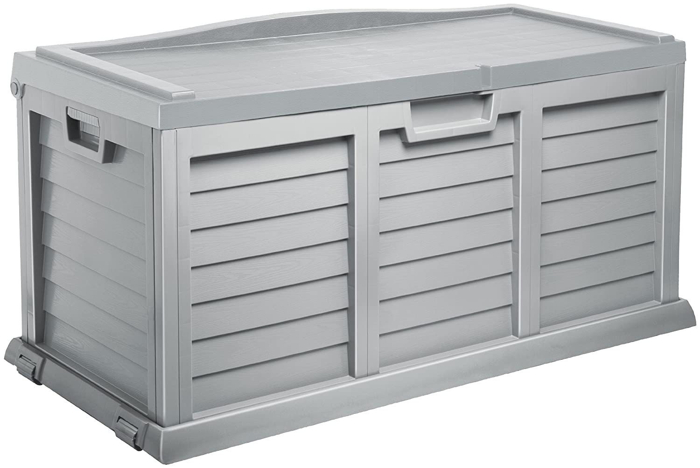 Auflagenbox / Gartenbox / Kissenbox XXL MIT SITZFLÄCHE ca. 142 x 62 x 74 cm / NEU Farbe: silber !!!!! Starplast 14-811 silver pearl