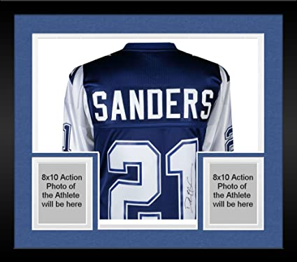 10bcaac4fd8 Framed Deion Sanders Dallas Cowboys Autographed Mitchell & Ness Navy 1995 Throwback  Authentic Jersey - Fanatics