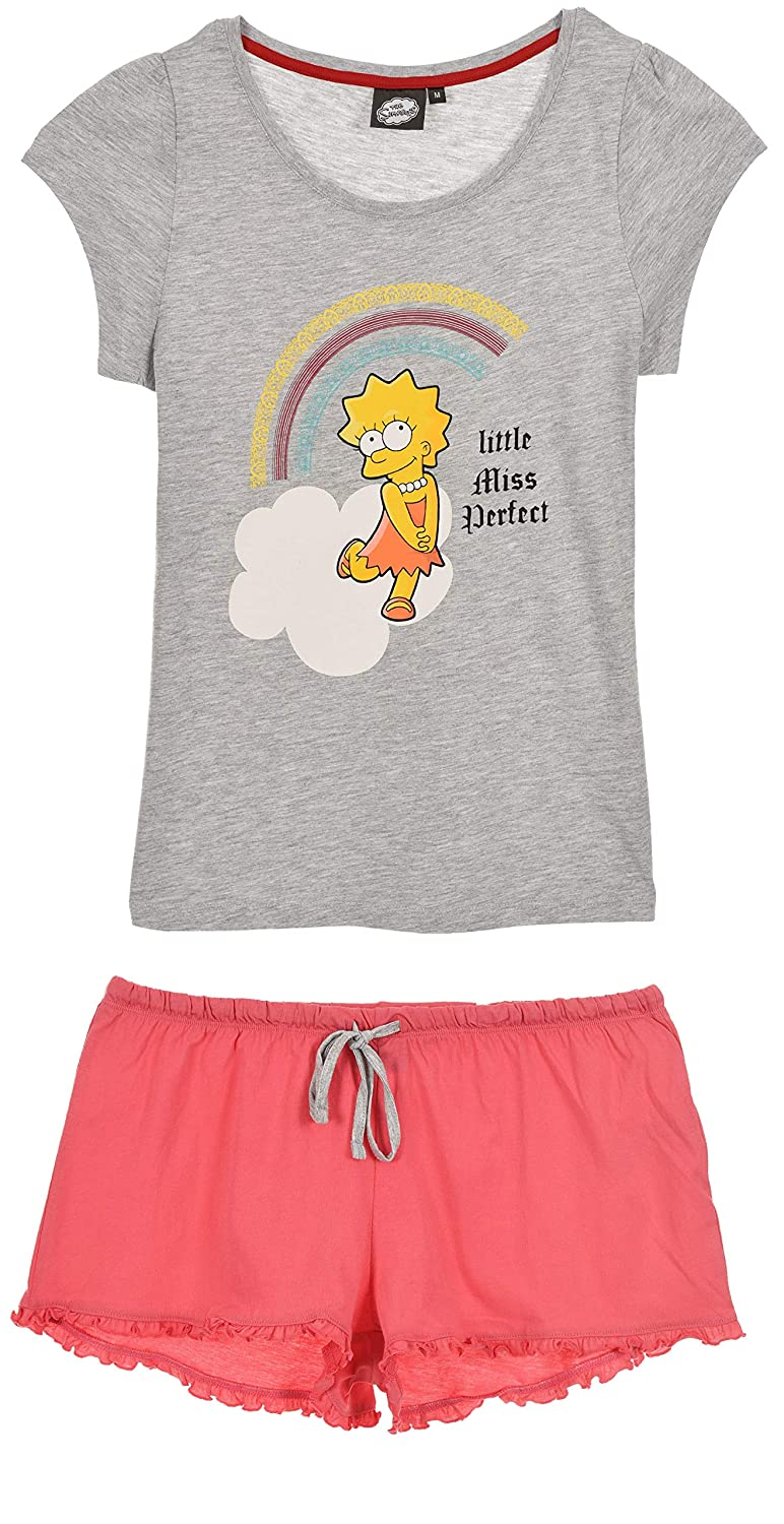 Mujer The Simpsons Mujer Pijama Corto Ropa Aceautocare Net