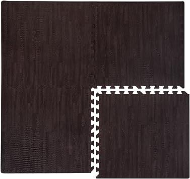 EYEPOWER Tapis Puzzle de Sol Extensible en EVA Couleur parquet Bois Marron fonc/é