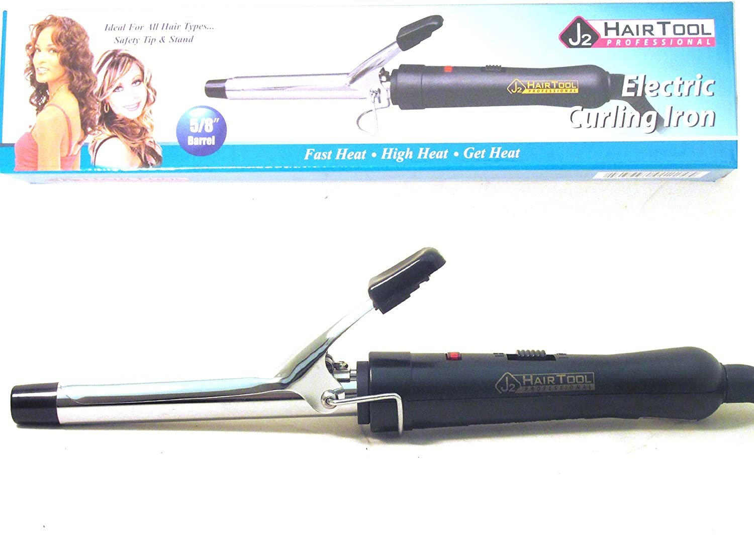 J2 Hair Tool 5/8 inch Chrome Curling Iron (Model: DRE2403) by J2 Tools