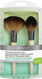 EcoTools Define & Highlight Duo, Makeup Brush Set for Powder, Bronzer,