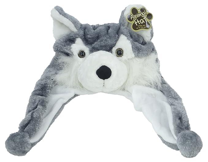 Childs animale Hat - lupo - taglia fino a 12 anni (PL42) lupo  Toy    Amazon.it  Giochi e giocattoli 5447c0fc8269