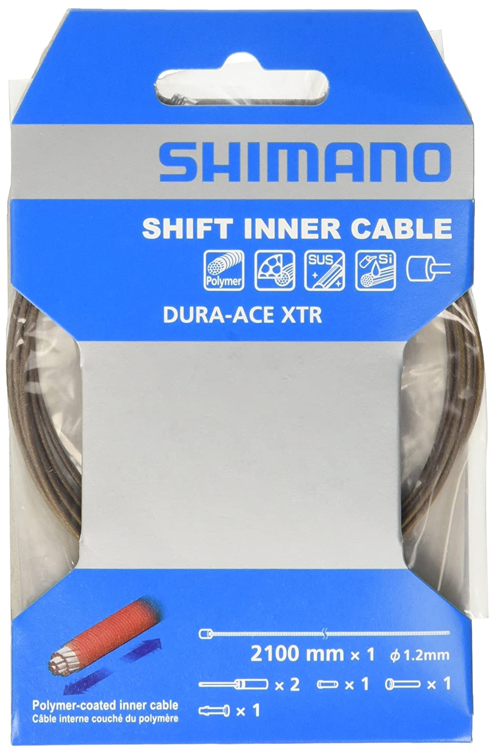 1.2 x 2100mm Shimano Dura-Ace Stainless Steel Polymer-Coated Shift Inner Cable