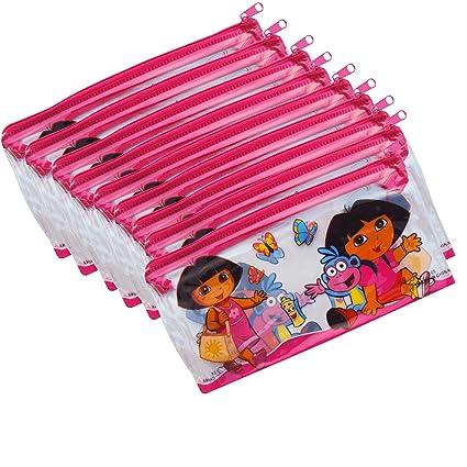 Asera 24 Pcs Kids Plastic PVC Pouch Small Size For Birthday Return Gifts Dora Theme
