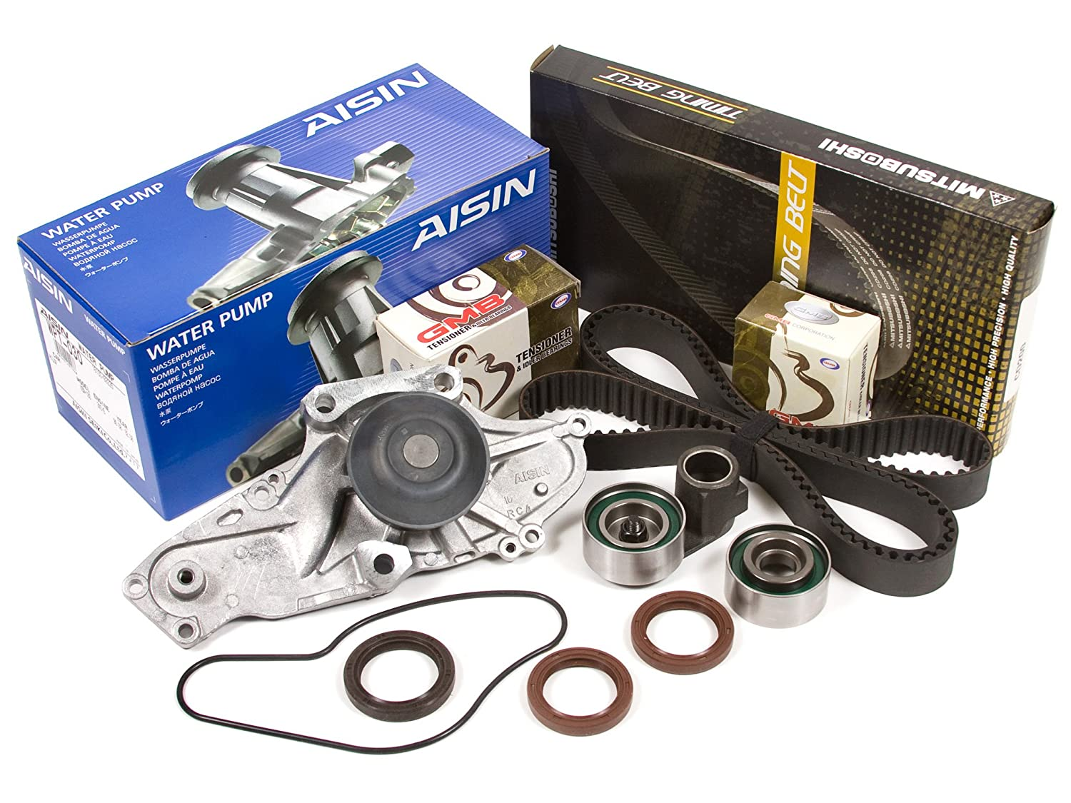 Evergreen TBK329MWPA 03-08 Honda Odyssey Acura MDX RL TL J32A J35A J37A Timing Belt Kit AISIN Water Pump Evergreen Parts And Components