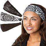 Hipsy Adjustable Cute Fashion Sports Headbands...