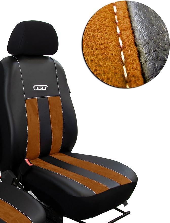 Pokter Gt T5 Multivan Fahrersitz Und Beifahrersitz Maßgefertigte Sitzbezüge Design Gt Braun Auto
