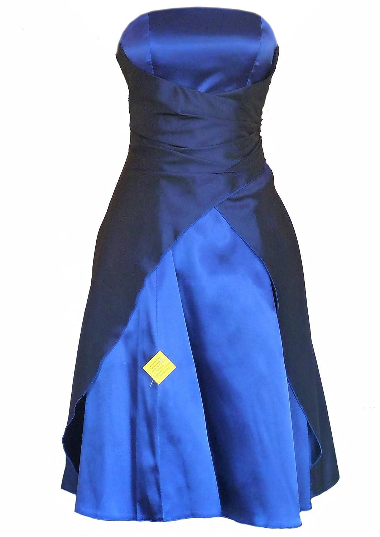 JuJu & Christine Kurzes Damen Satin Abendkleider (2030B) vers. Farben Gr. 34 - 54
