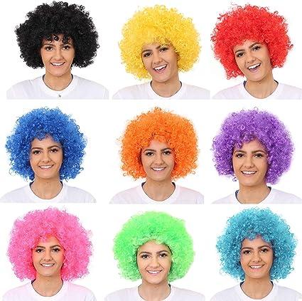 Karneval Funky Afro Party Perücke Afoperücke braun Fasching Kostüm Zubehör