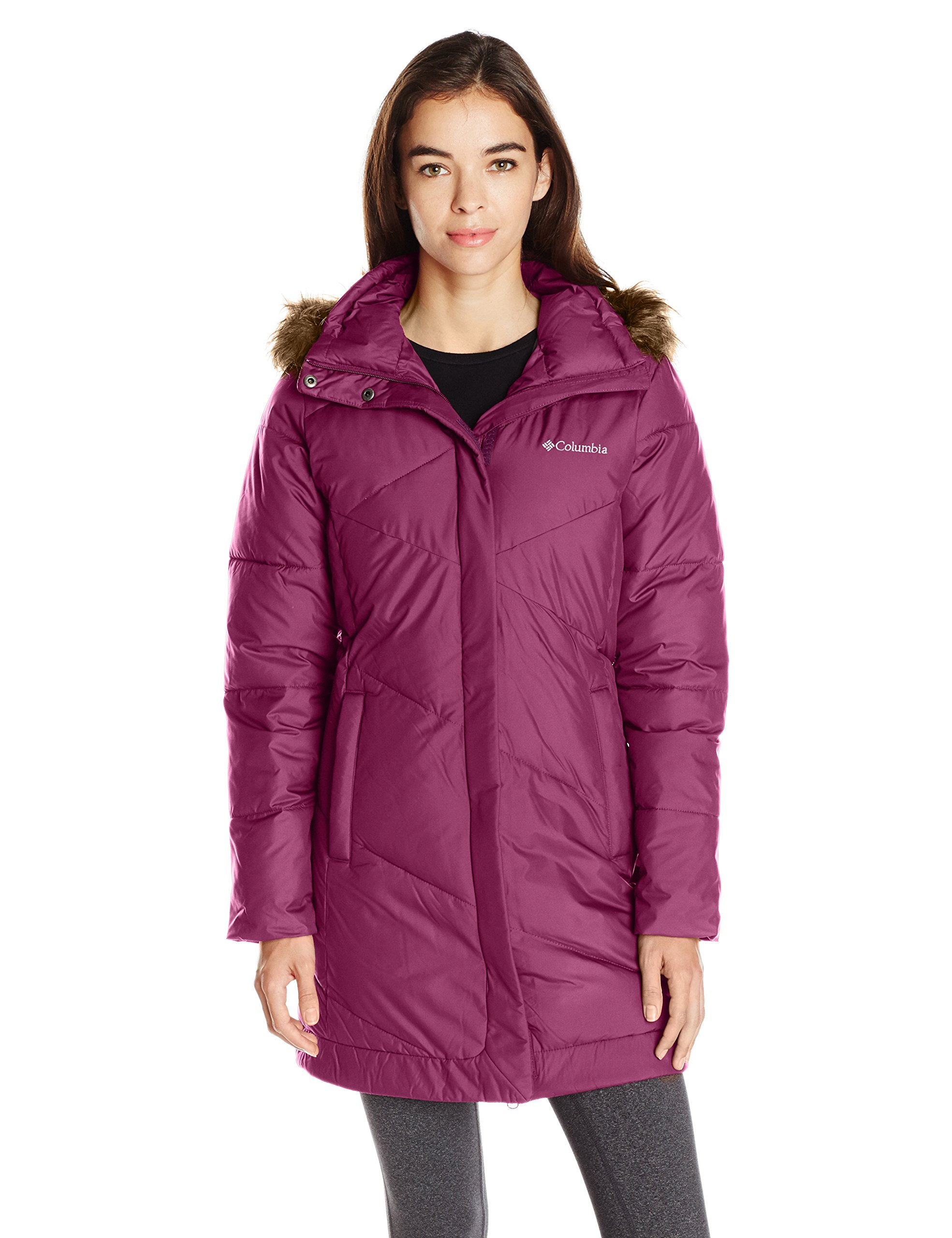Columbia Women's Snow Eclipse Mid Jacket, Dark Raspberry, XL
