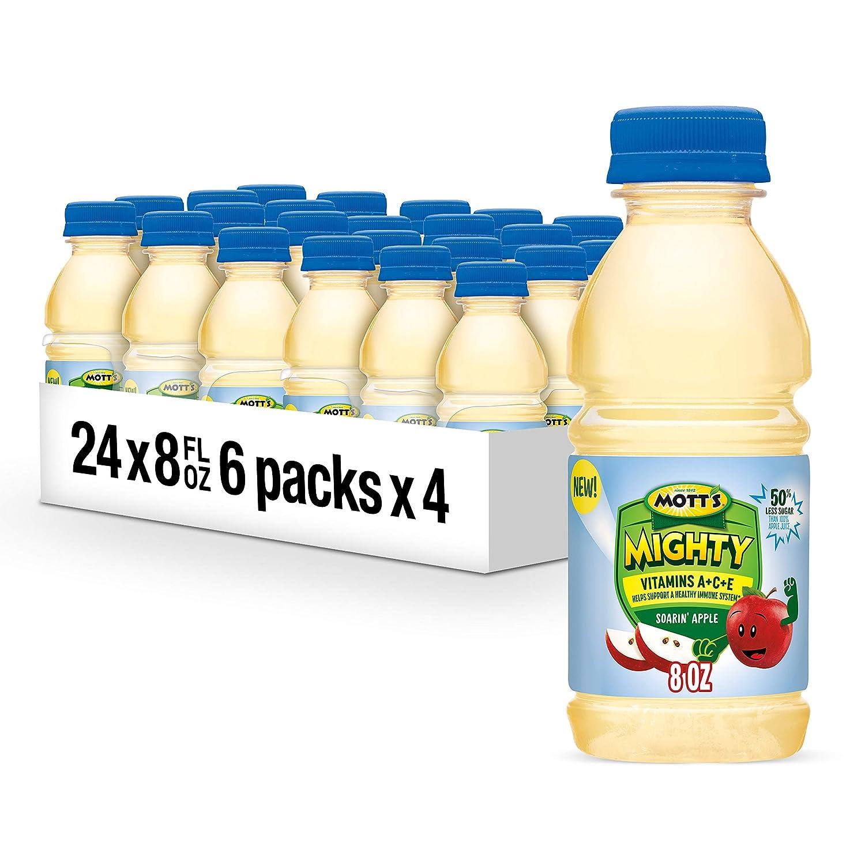 Mott's Mighty Soarin' Apple Juice Drink, 8 fl oz bottles (Pack of 24)
