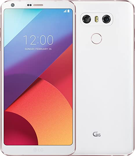 LG Mobile G6 Smartphone 14 5 cm 5 7 Inch QHD Plus Full Vision Screen, 32 GB  Storage, Android 7 0