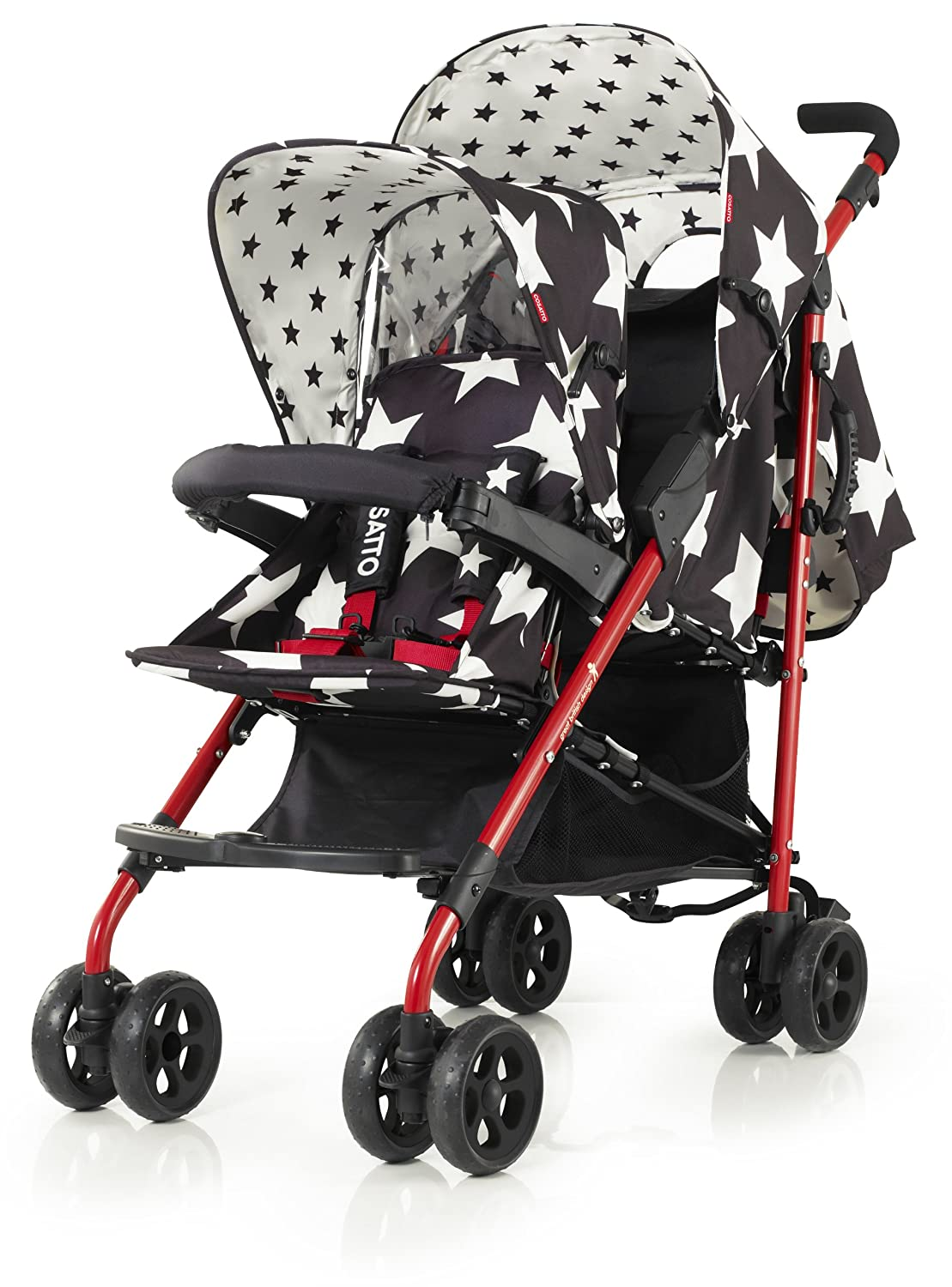 Amazon.com : Cosatto Shuffle Tandem Pushchair (All Star) : Baby