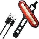 Fahrrad Rücklicht, Awnic Fahrradlicht LED USB Wiederaufladbar Fahrrad LED Rote Bis zu 11h 4 Modi Wasserdicht 240° Sichtbar Geeignet für Helm und Fahrrad