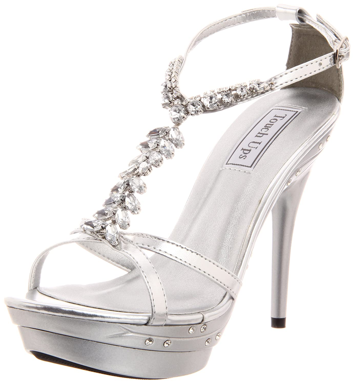 Touch Ups Women's Patsy Platform Sandal B00601UNW8 7.5 B(M) US|Silver Metallic