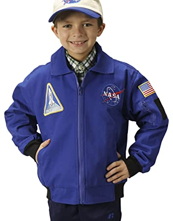 Amazon.com: Aeromax Youth NASA Astronaut Flight Jacket, Blue ...
