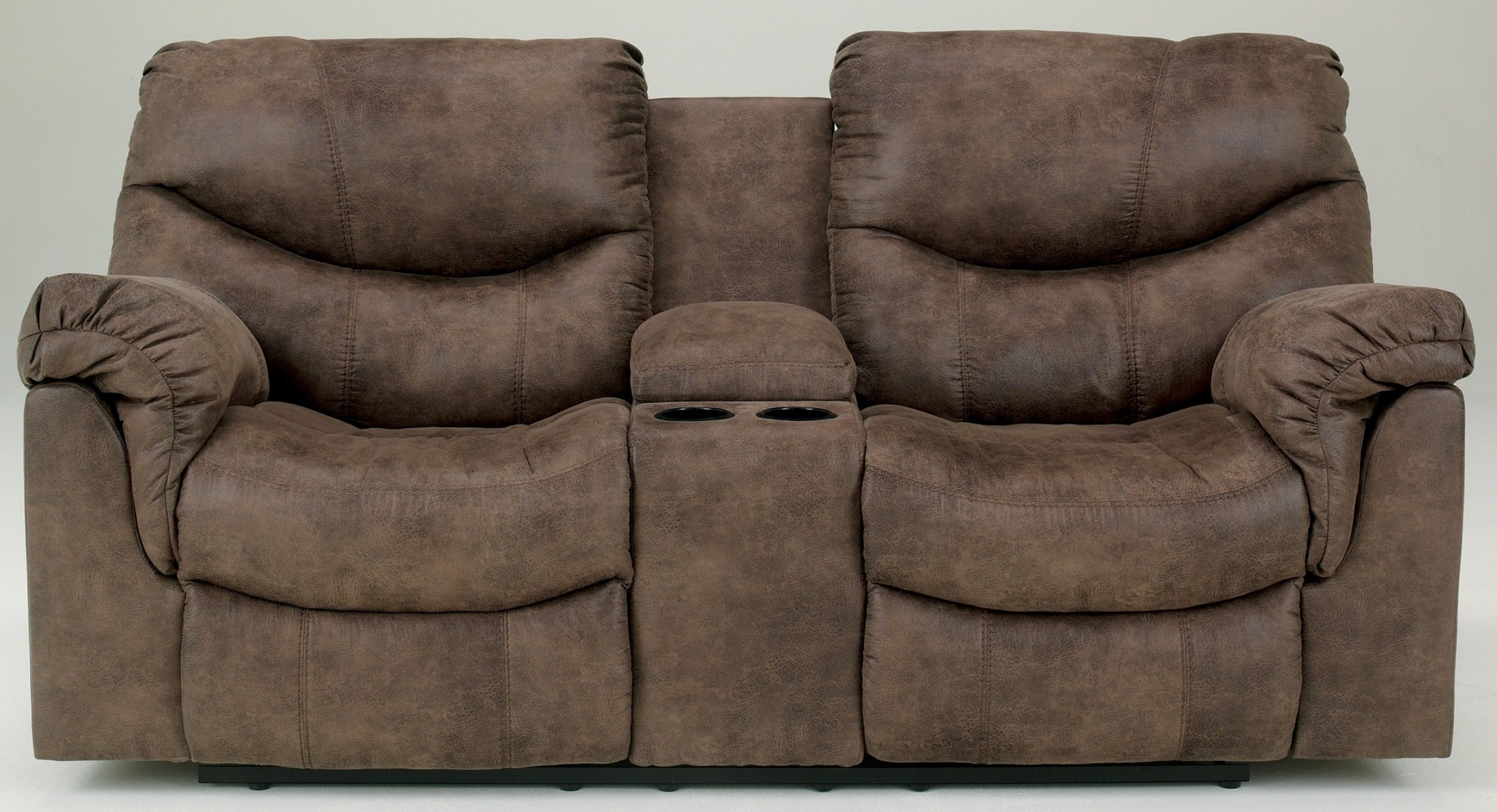 Ashley Furniture Signature Design - Alzena Power Recliner Loveseat with Console - 1 Touch Power Reclining - Gunsmoke