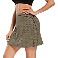 Women Athletic Skirts with Shorts Pockets Lightweight Active Skorts for Running Tennis Golf Workout Sports (Yellow…