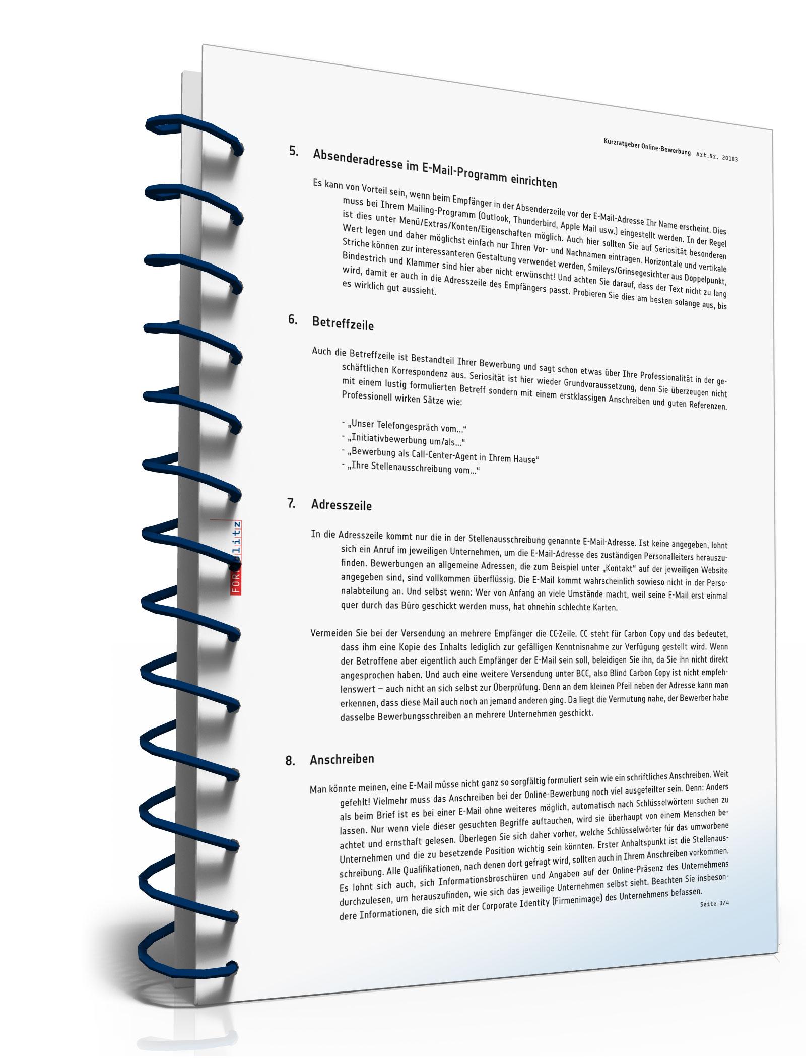 Kurz Ratgeber Online Bewerbung Pdf Download Download Amazonde