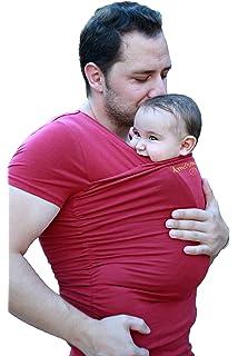 GWELL Papa Hommes Porte-bébé Kangaroo Pull Sweatshirt Sweat à ... ffb8ba1640f