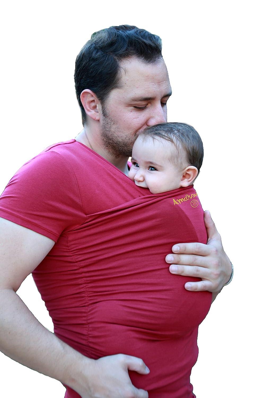 Camiseta portabebés Amarsupiel Papás talla S(36-38) Color gris Amarsupiel S.L.