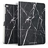 iPad Air (iPad5) Case,iPad Air 2 (iPad6) Case,Lizimandu Ultra Slim Lightweight Smart-shell Stand PU Leather Cover Stand Flip Case Cover Auto Wake/Sleep for Apple iPad Air 1/2(Black Marble)