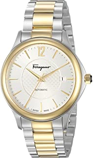 c63ab3aaf360f Salvatore Ferragamo Men s  Time Automatic  Swiss Made Automatic Stainless  Steel Watch (Model