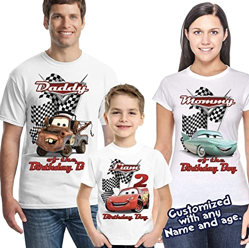 Disney Cars Shirt Personalized Name and Age Birthday Shirt