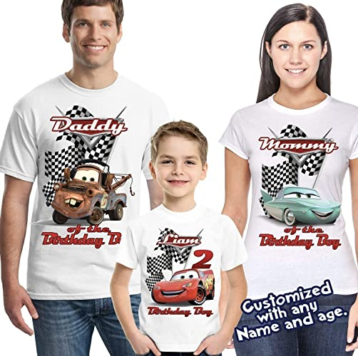 e21470326 Amazon.com: Lightning McQueen Cars Personalized Birthday Shirt - Custom  Party: Handmade