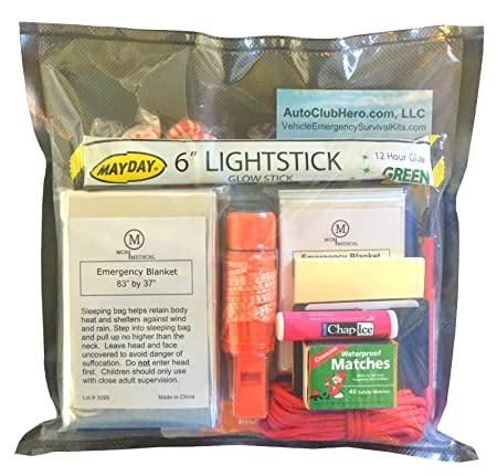 Amazon.com: AutoClubHero Car Emergency Kit 185 Pieces - Premium ...