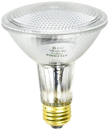 sylvania 75watt par30 wide flood long neck halogen light bulb - Sylvania Light Bulbs