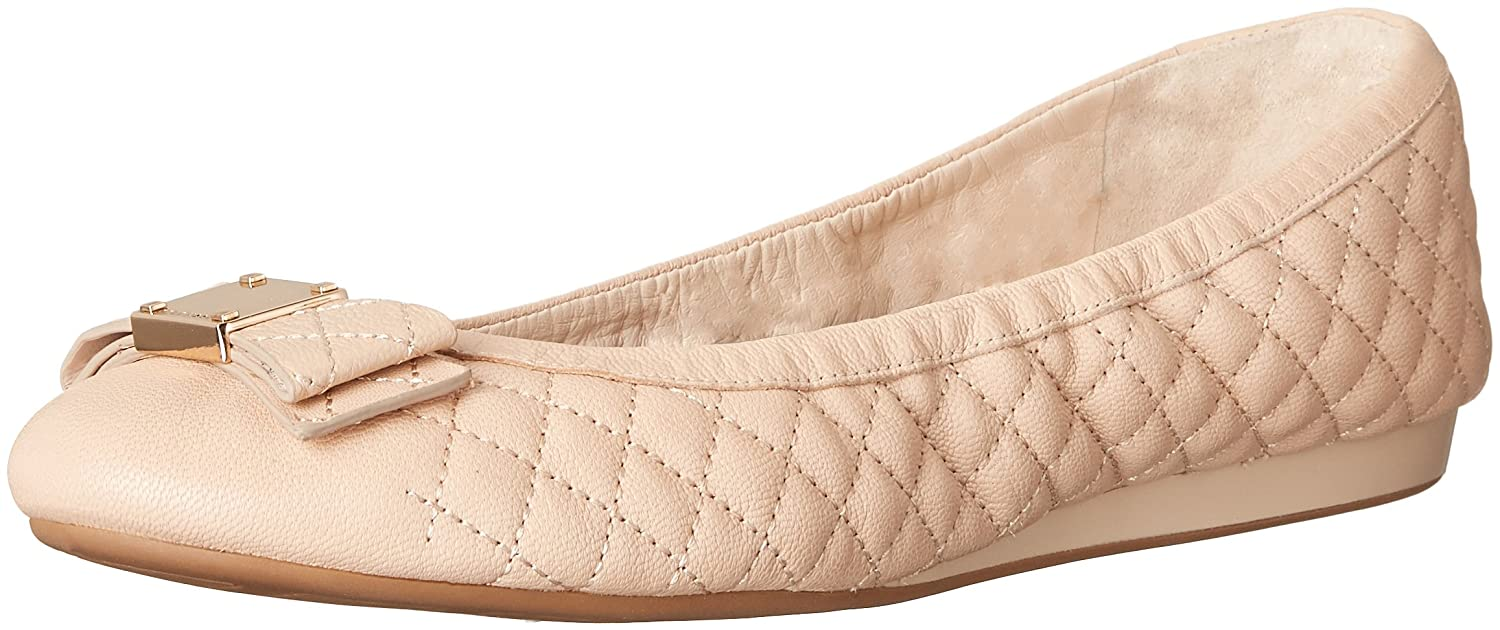 Amazon.com | Cole Haan Women's Tali Bow Quilted Ballet Flat, Nude Quilted  Leather, 9 B US | Flats