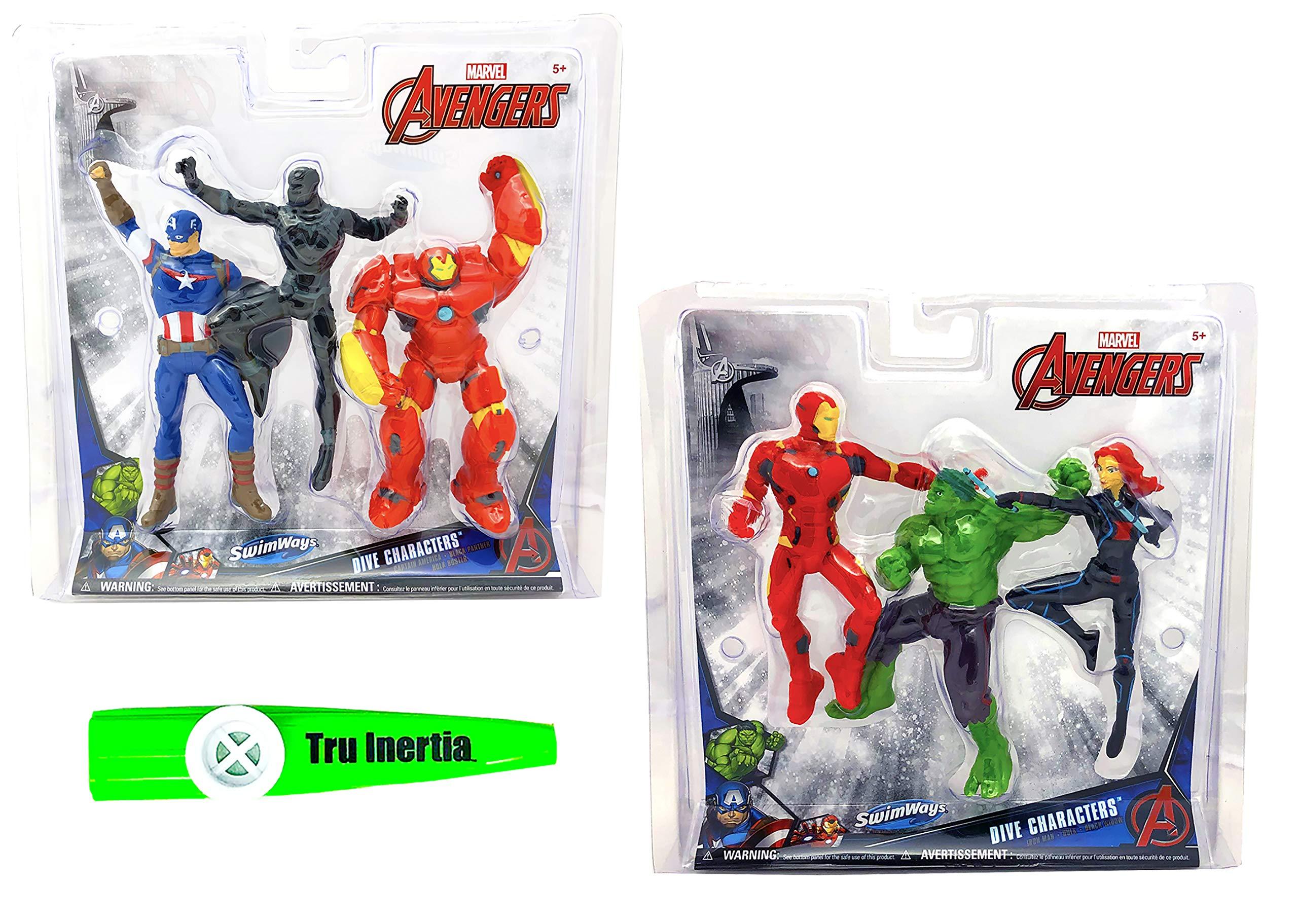 Tru Inertia Swimming Pool Dive Sticks Marvel Avengers End Game Characters Pool Toys Pack of 2 Kazoo (6 Dive Sticks Total) by Tru Inertia