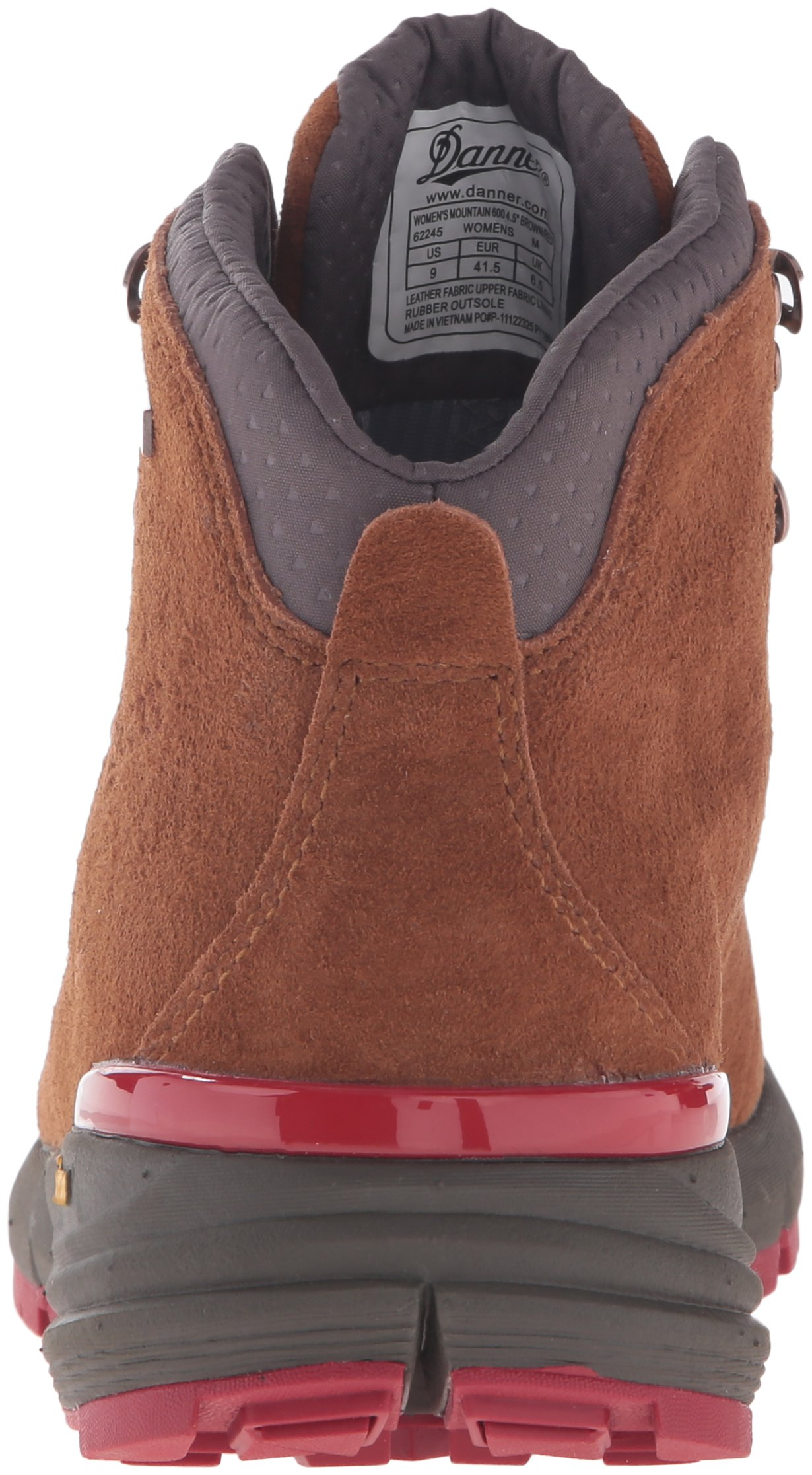 Danner Women's Mountain 600 4.5'' Hiking Boot, Brown/Red, 8.5 M US by Danner (Image #2)