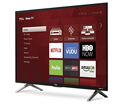 TCL 32S305 HD TV 32 Inch Smart TV  front left angle screen